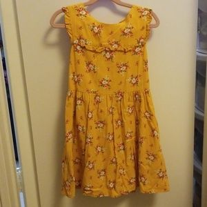 Gap yellow floral dress